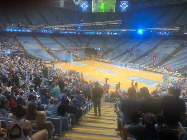 Dean E. Smith Center, section: 130, row: Aa, seat: 1