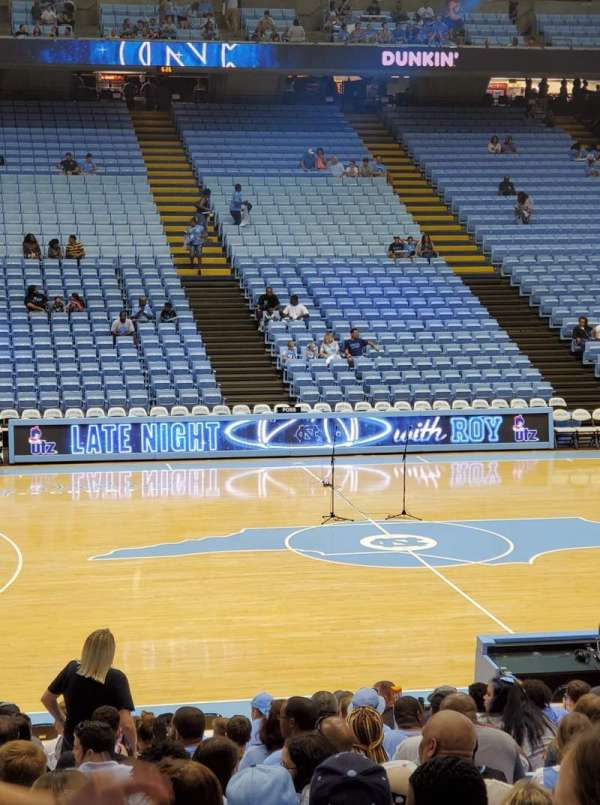 Dean E. Smith Center, section: 125, row: N, seat: 5