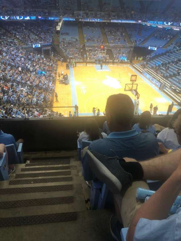 Dean E. Smith Center, section: 233, row: D, seat: 1