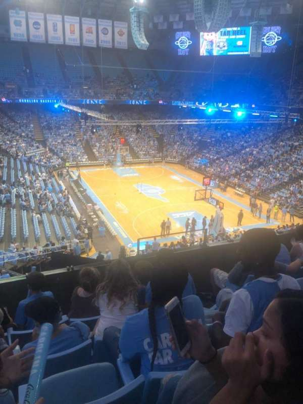 Dean E. Smith Center, section: 214, row: D, seat: 6