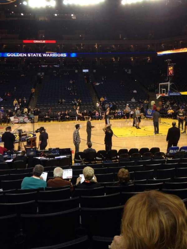 Oakland Arena, section: 128, row: 5, seat: 9