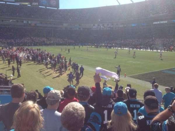 Bank Of America Stadium, section: 106, row: 10, seat: 2