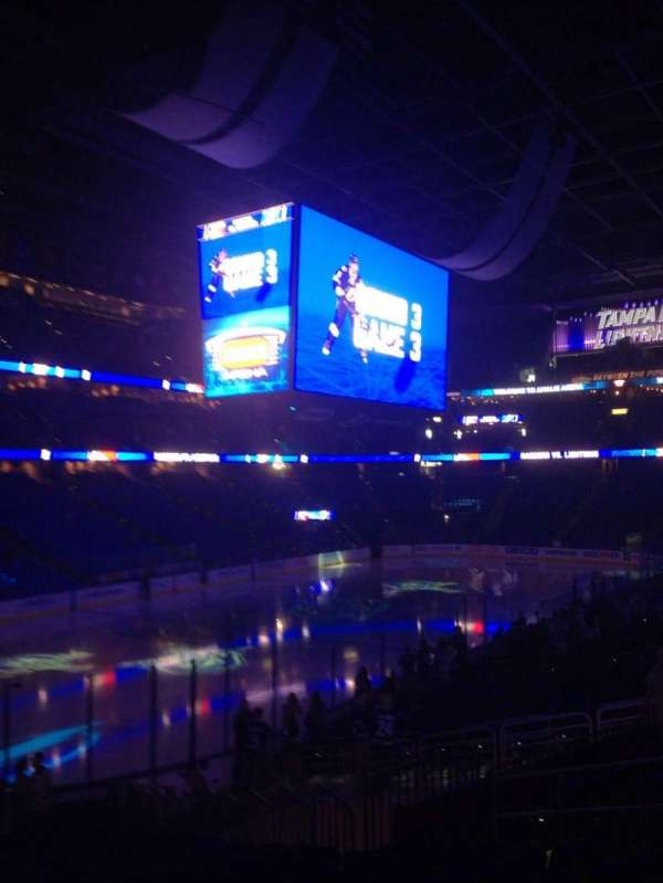 Amalie Arena, section: 104, row: X, seat: 26