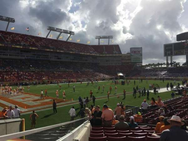 Raymond James Stadium, section: 103, row: R, seat: 5