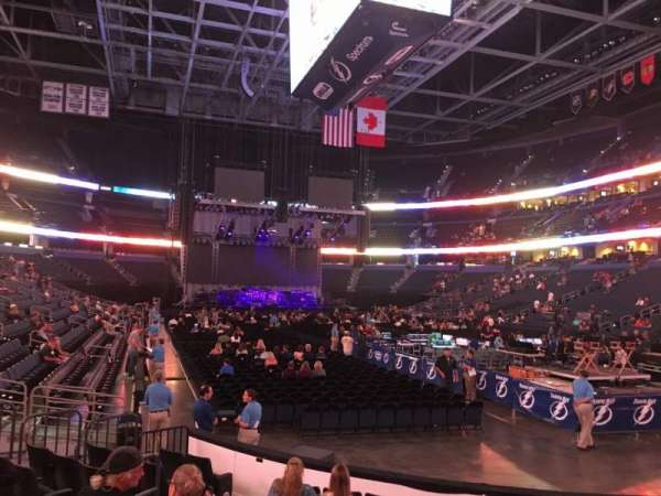 Amalie Arena Section 110 Home Of Tampa Bay Lightning