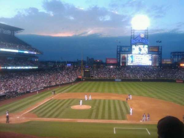 Coors Field, section: 223, row: 2, seat: 8