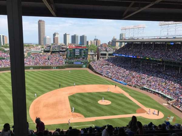 Wrigley Field, section: 411L, row: 7, seat: 1