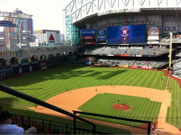 Minute Maid Park, section: 316, row: 4, seat: 1