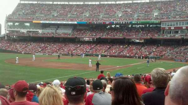 Great American Ball Park, section: 111, row: w, seat: 16