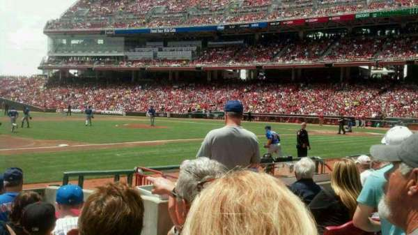 Great American Ball Park, section: 114, row: K, seat: 5