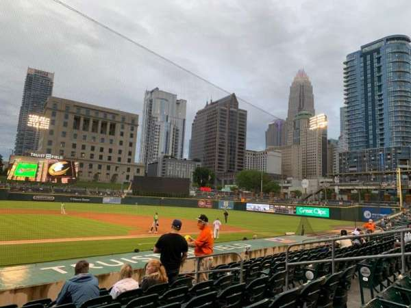 Truist Field, section: 108, row: M, seat: 9