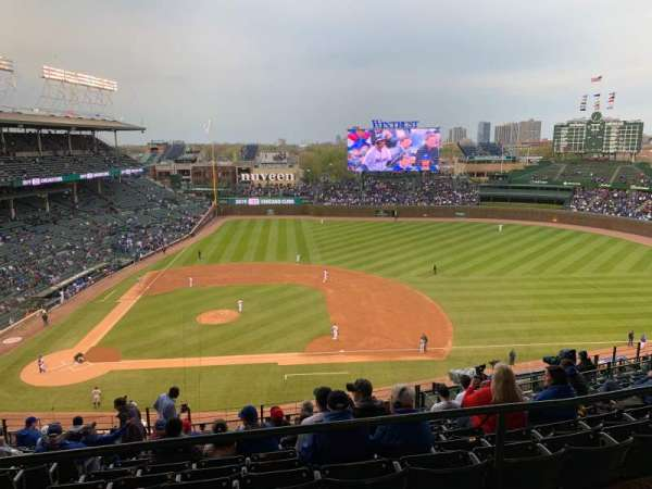 Wrigley Field, section: 424R, row: 1, seat: 5