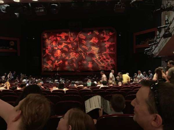 Minskoff Theatre, section: Orchestra C, row: Y, seat: 127
