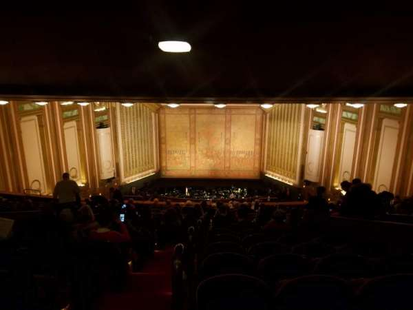 Lyric Opera House, section: First Balcony, row: R, seat: 1