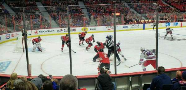 Canadian Tire Centre, section: 119, row: H, seat: 1
