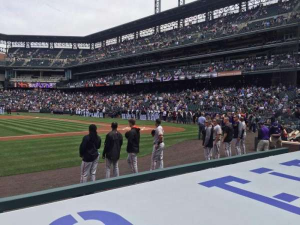 Coors Field, section: 137, row: 5, seat: 11