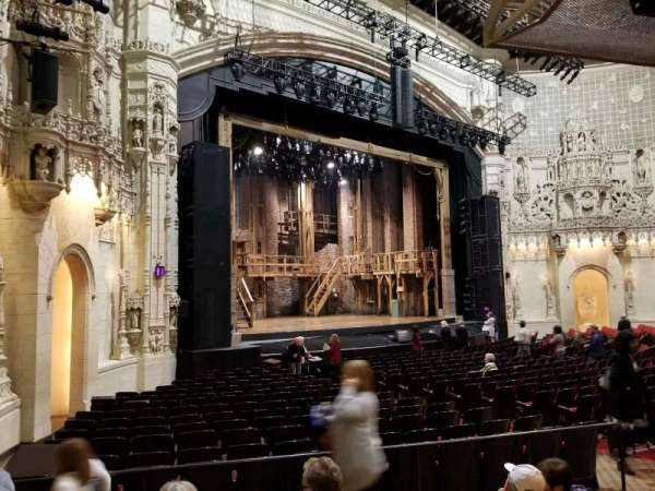 Orpheum Theatre (San Francisco), section: orchestra l, row: w, seat: 25