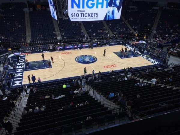 Target Center, section: 212, row: A, seat: 10