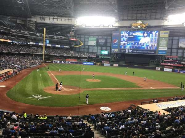 Miller Park, section: 216, row: 1, seat: 4