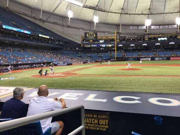 Tropicana Field, section: 114, row: N, seat: 1