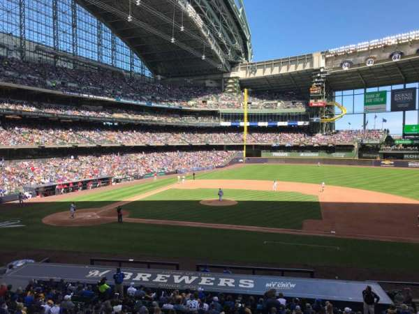Miller Park, section: 213, row: 1, seat: 11