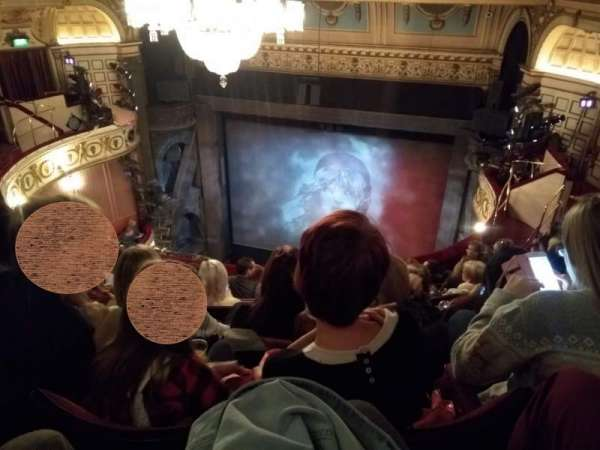 Queen's Theatre, section: Upper Circle, row: F, seat: 5