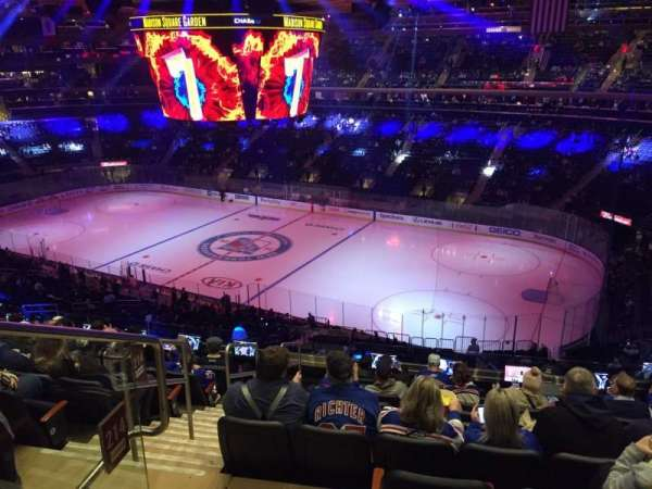 Madison Square Garden, section: 214, row: 10, seat: 1