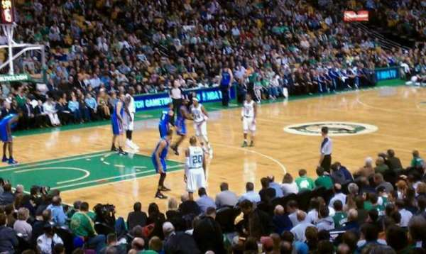 TD Garden, section: Loge 15, row: 15W, seat: 4