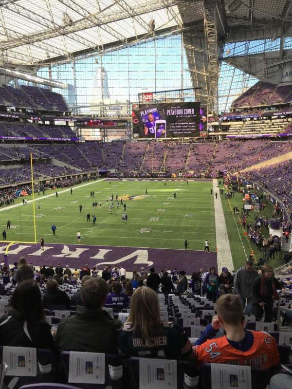 U.S. Bank Stadium, section: 118, row: 33, seat: 4