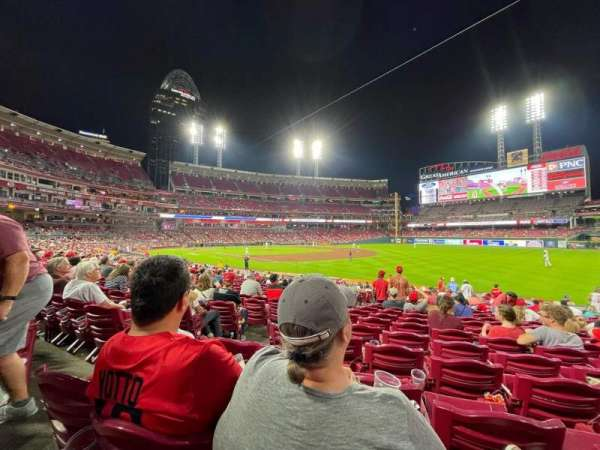 Great American Ball Park, section: 135, row: U, seat: 19