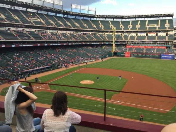 Globe Life Park in Arlington, section: 234, row: 3, seat: 8
