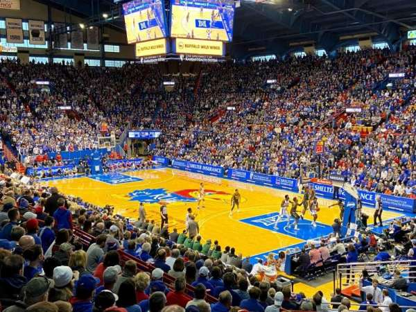 Allen Fieldhouse, section: 14, row: 10, seat: 6