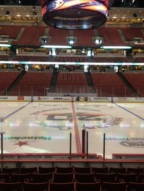 Honda Center, section: 208, row: K, seat: 9