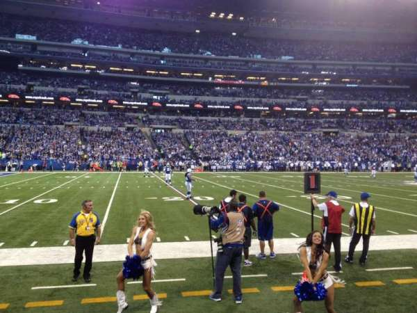 Lucas Oil Stadium, section: 116, row: 1, seat: 11