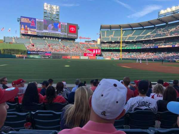 Angel Stadium, section: F108, row: G, seat: 11