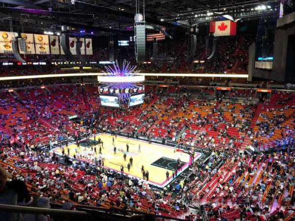 American Airlines Arena, section: 305, row: 7, seat: 4