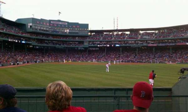 Fenway Park, section: Bleacher 42, row: 1, seat: 14