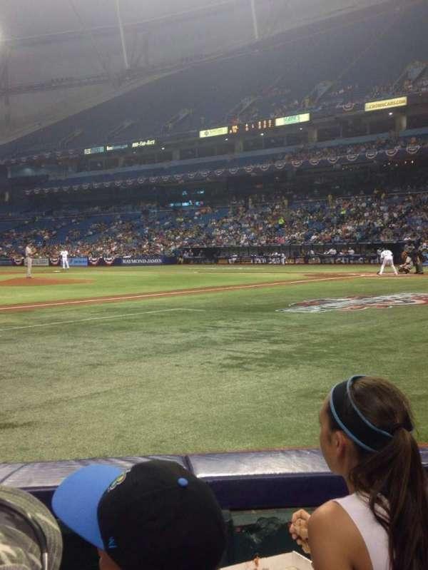Tropicana Field, section: 119, row: E, seat: 6