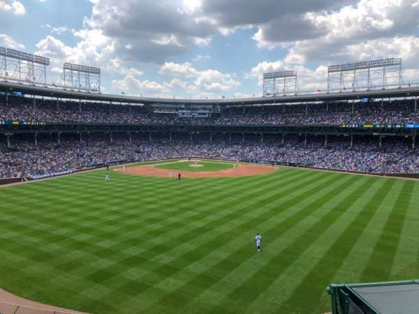 Wrigley Field, section: Bleachers, row: Centerfield, seat: Upper Level