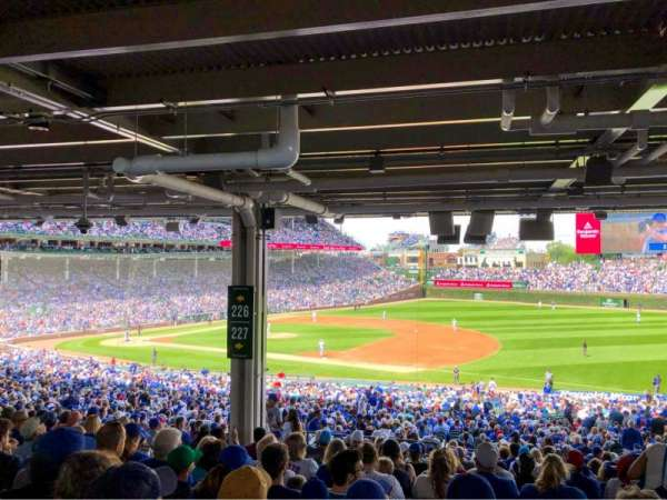 Wrigley Field, section: 227, row: 18, seat: 10