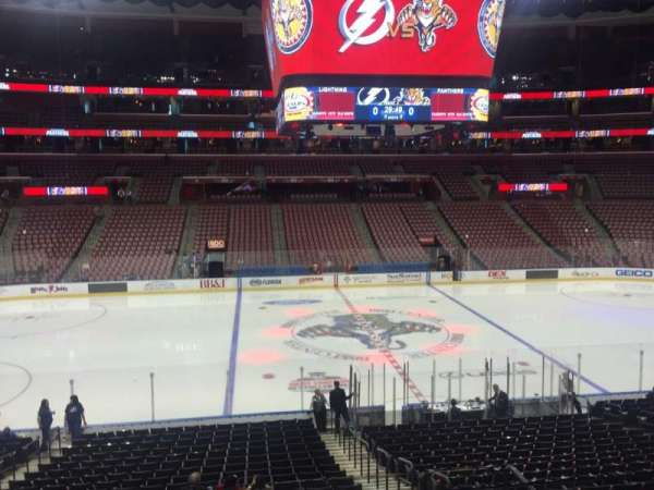 BB&T Center, section: 119, row: 22, seat: 4