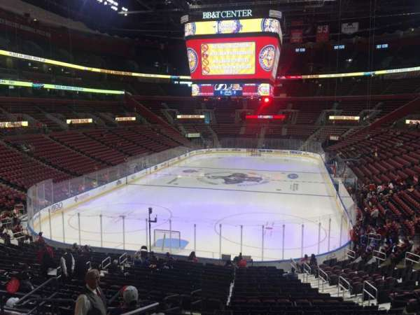 BB&T Center, section: 108, row: 24, seat: 17