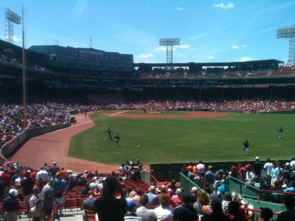 Fenway Park, section: Grandstand 1, row: WW, seat: 4