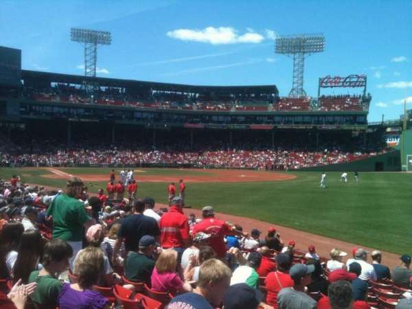 Fenway Park, section: Right Field Box 94, row: WW, seat: 10