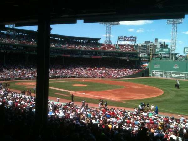 Fenway Park, section: Grandstand 12, row: 11, seat: 1