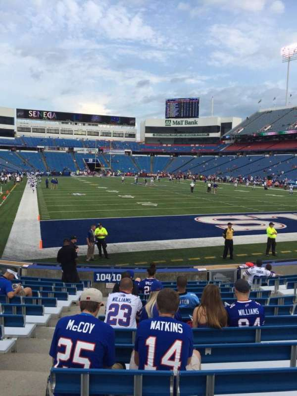 Highmark Stadium, section: 103, row: 14, seat: 10