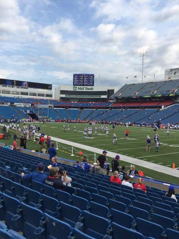 New Era Field, section: 107, row: 13, seat: 7