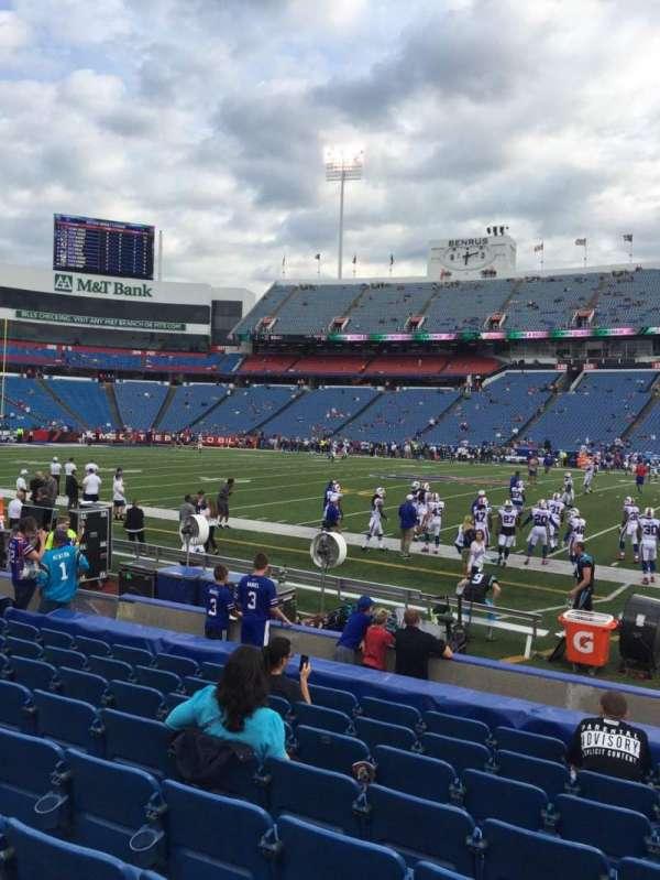 New Era Field, section: 110, row: 11, seat: 8