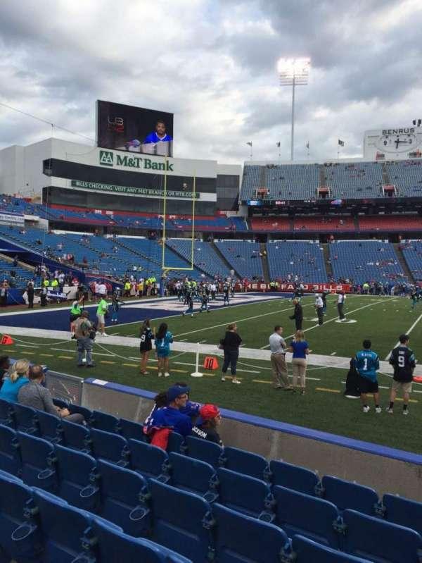 Highmark Stadium, section: 114, row: 7, seat: 10