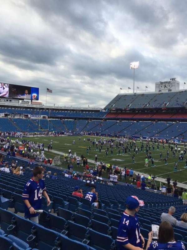 New Era Field, section: 129, row: 32, seat: 16